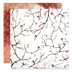 "Papier n°3 de la collection ""Automne flamboyant"" - papier scrapbooking, format  30 x 30 - Crazy Little Craft"