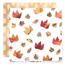 "Papier n°4 de la collection ""Automne flamboyant"" - papier scrapbooking, format  30 x 30 - Crazy Little Craft"