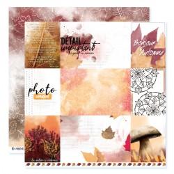 """Papier n°5 de la collection """"Automne flamboyant"""" - papier scrapbooking, format  30 x 30 - Crazy Little Craft"""