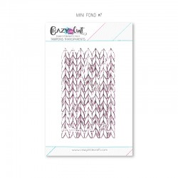 Mini fond 7 - Tampon transparent photopolymère pour scrapbooking - Crazy Little Craft