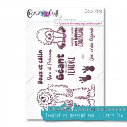 Doux Yétis - Tampon transparent photopolymère pour scrapbooking - Crazy Little Craft