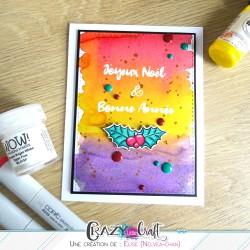 Carte de fêtes colorée !