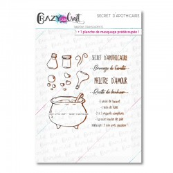 Secret d'apothicaire - Tampons transparents photopolymère pour scrapbooking - Crazy Little Craft