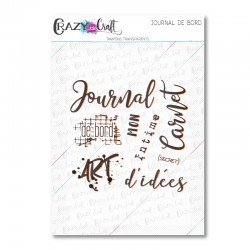 Journal de bord - Tampons transparents photopolymère pour scrapbooking - Crazy Little Craft