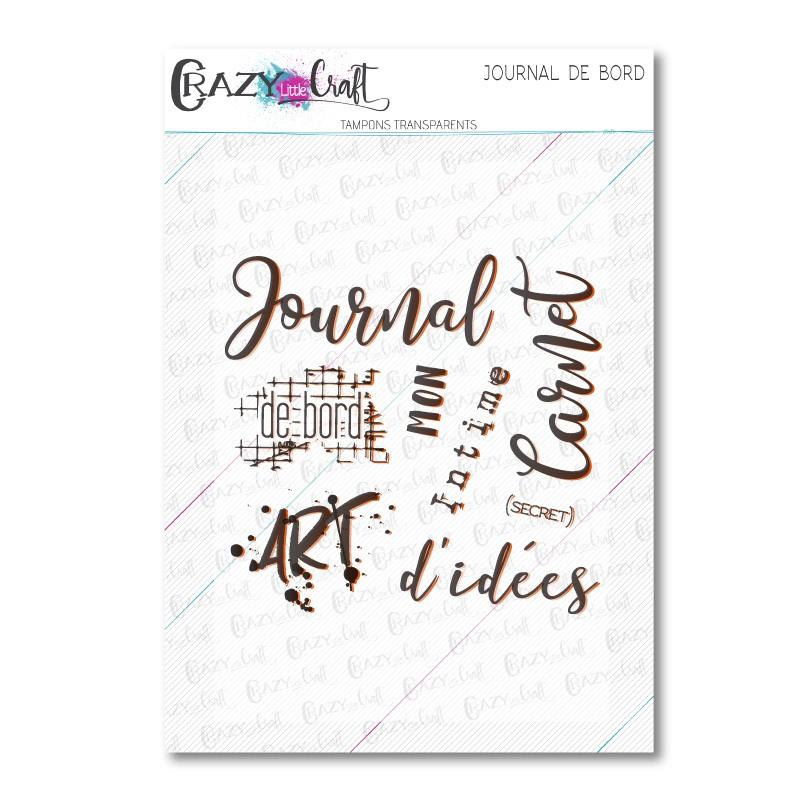 Journal de bord - Tampons transparents photopolymère pour scrapbooking - Crazy Little Craft