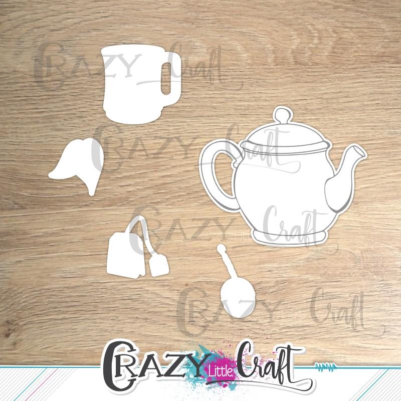 """Formes à découper pour machine numérique correspondant à la planche de tampons """"Tea time"""""""