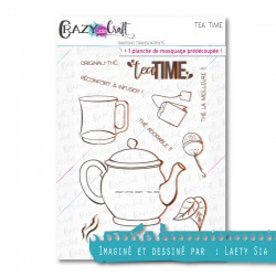 Tea time - Tampons transparents photopolymère pour scrapbooking - Crazy Little Craft