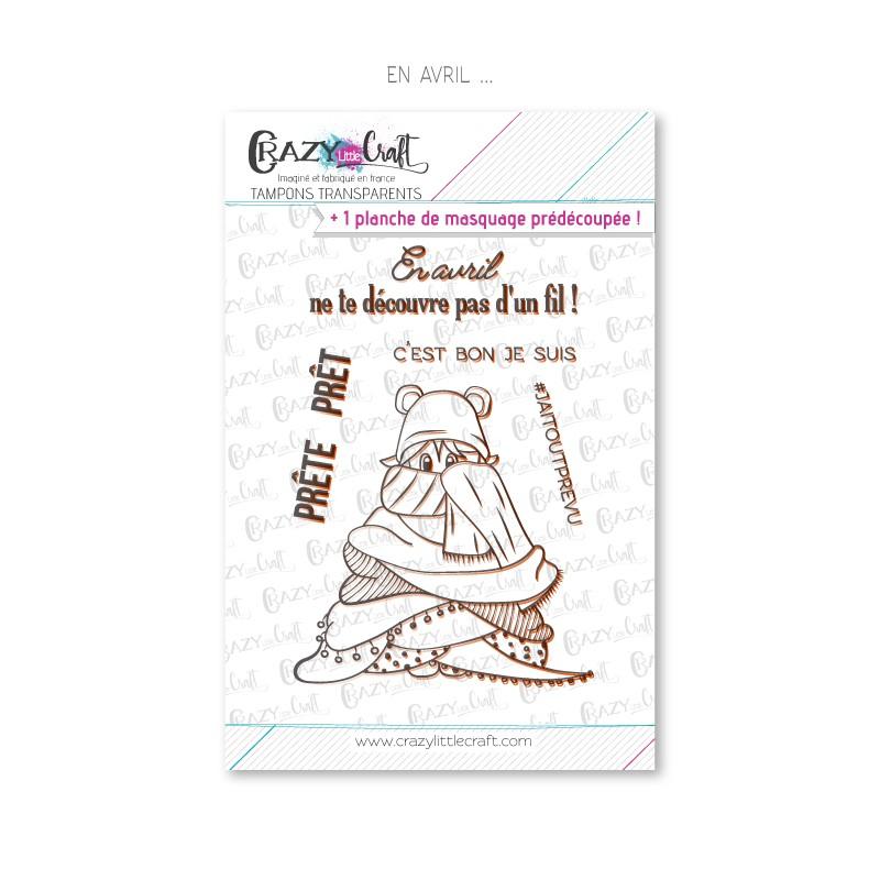En avril ... - Tampons transparents photopolymère pour scrapbooking - Crazy Little Craft