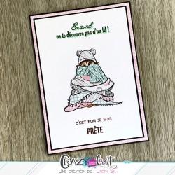 Carte en Paper piecing par Laety Sia