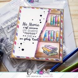"""Carte """"Ma mamie..."""" par Lyncé Créa"""
