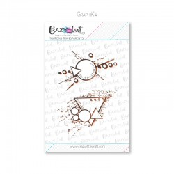 GraphiK'4 - Tampons transparents photopolymère pour scrapbooking - Crazy Little Craft