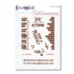 Vive la musique - Tampons transparents photopolymère pour scrapbooking - Crazy Little Craft