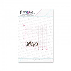 XOXO - Tampons transparents photopolymère pour scrapbooking - Crazy Little Craft