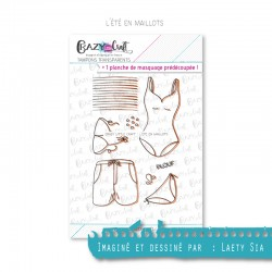 L'été en maillot - Tampons transparents photopolymère pour scrapbooking - Crazy Little Craft