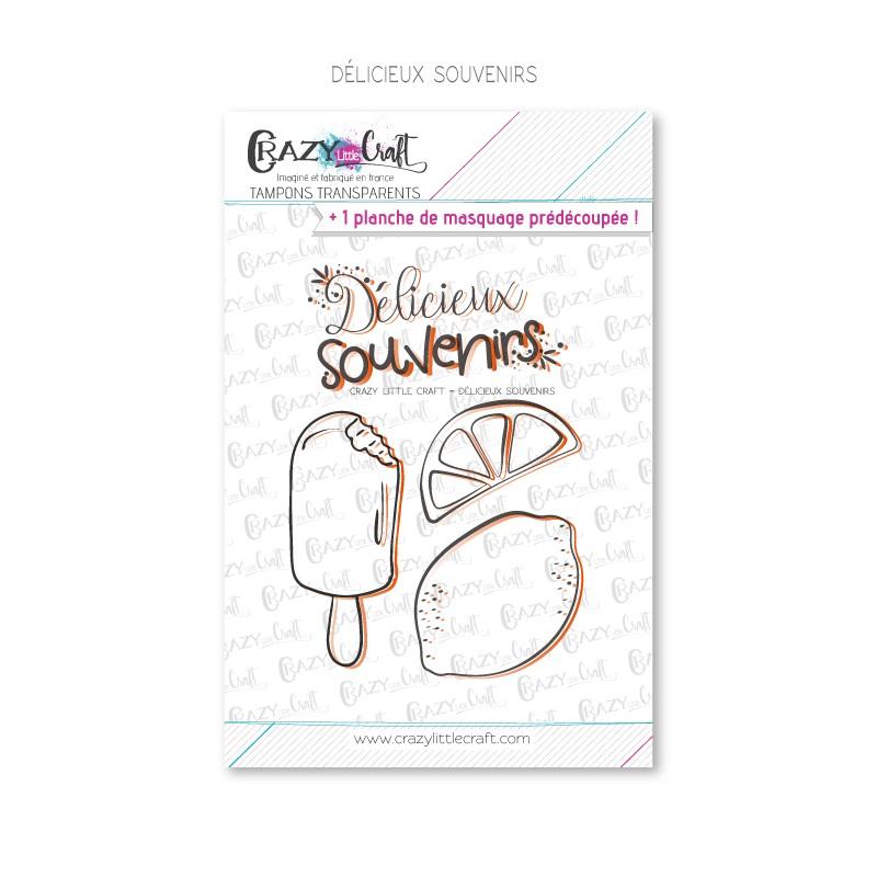 Delicieux souvenirs - Tampons transparents photopolymère pour scrapbooking - Crazy Little Craft