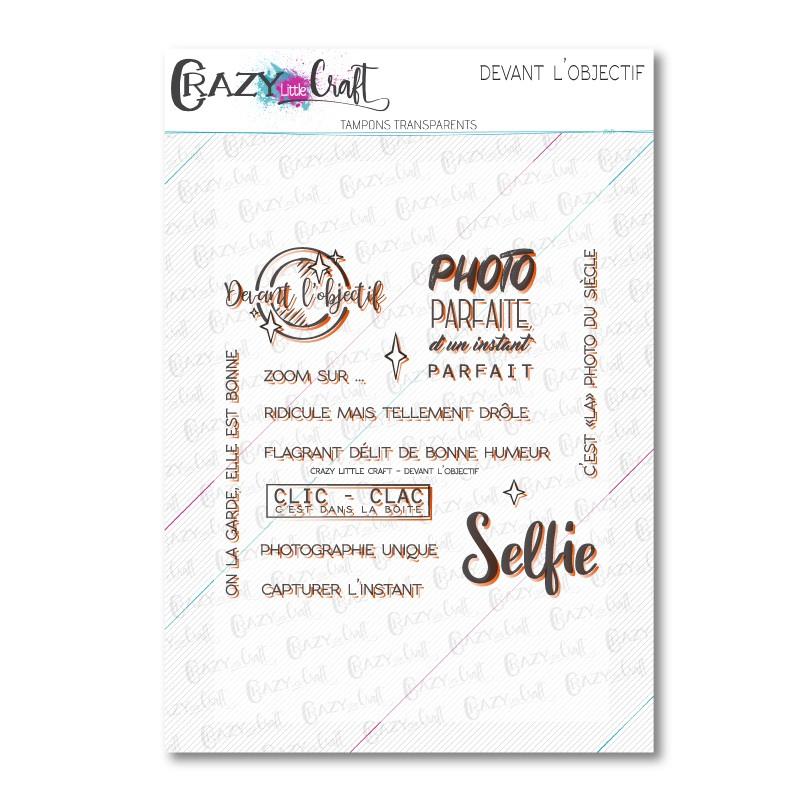 Devant l'objectif - Tampons transparents photopolymère pour scrapbooking - Crazy Little Craft