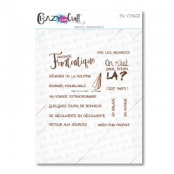 En voyage - Tampons transparents photopolymère pour scrapbooking - Crazy Little Craft