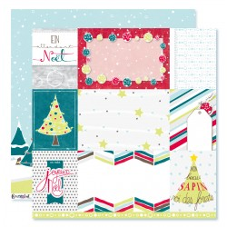 "Collection ""Noël acidulé"" papiers recto/verso n°12