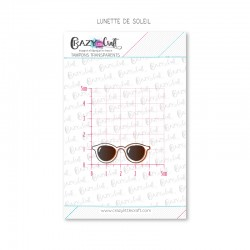 Lunette de soleil - Tampons transparents photopolymère pour scrapbooking - Crazy Little Craft