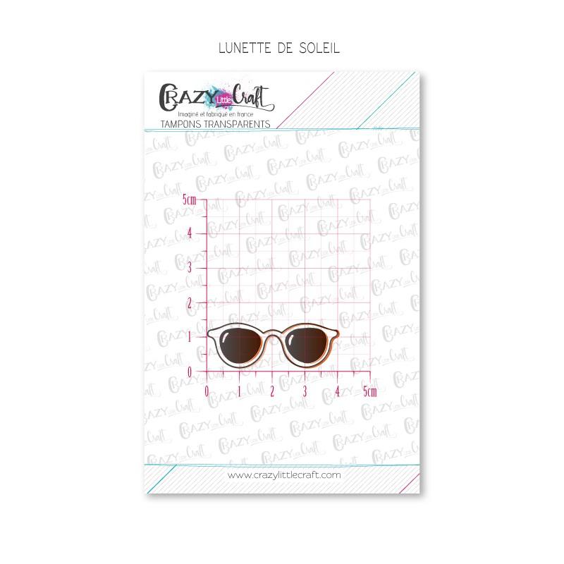 Lunette de soleil - Tampons transparents photopolymère pour scrapbooking - Crazy Little Craft