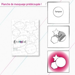 """Masque(s) en papier prédécoupé(s), correspondant à la planche de tampons """"Jour de fête""""."""
