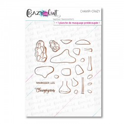Champi-Crazy - Tampons transparents photopolymère pour scrapbooking - Crazy Little Craft
