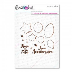 Jour de fête - Tampons transparents photopolymère pour scrapbooking - Crazy Little Craft