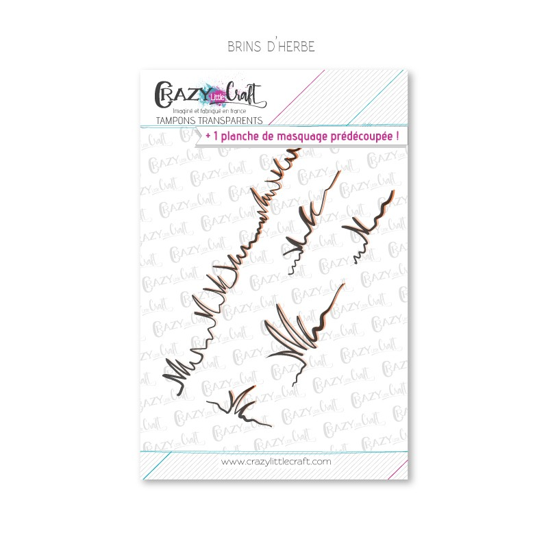Brins d'herbe - Tampons transparents photopolymère pour scrapbooking - Crazy Little Craft
