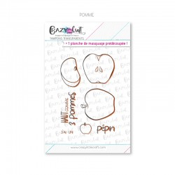 Pomme - Tampons transparents photopolymère pour scrapbooking - Crazy Little Craft