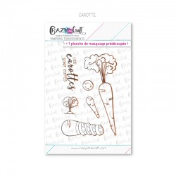 Carotte - Tampons transparents photopolymère pour scrapbooking - Crazy Little Craft