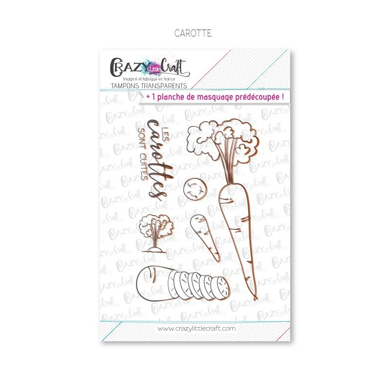 Carotte - Tampons transparents photopolymère pour scrapbooking - Crazy Little Craft