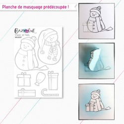 Magie de Noël - planche de masquage Crazy Little Craft