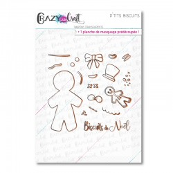 P'tits biscuits - Tampons transparents photopolymère pour scrapbooking - Crazy Little Craft