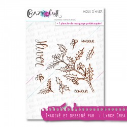 Houx d'hiver - Tampons transparents photopolymère pour scrapbooking - Crazy Little Craft