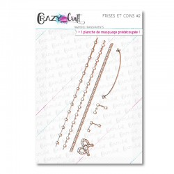 Frises et coins 2 - Tampons transparents photopolymère pour scrapbooking - Crazy Little Craft