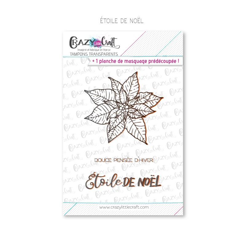 Étoile de Noël - Tampons transparents photopolymère pour scrapbooking - Crazy Little Craft