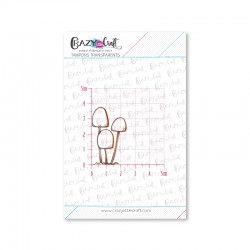 Trio de champignons - Tampons transparents photopolymère pour scrapbooking - Crazy Little Craft