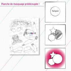 """Masque(s) en papier prédécoupé(s), correspondant à la planche de tampons """"Panoplie d'hiver""""."""