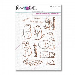 Marmottes - Tampons transparents photopolymère pour scrapbooking - Crazy Little Craft