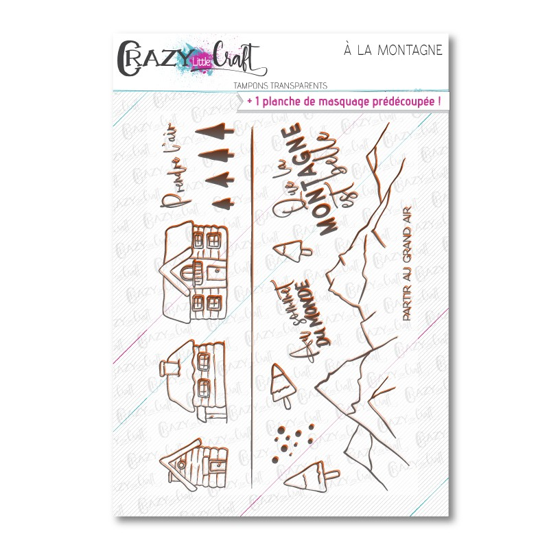 À la montagne - Tampons transparents photopolymère pour scrapbooking - Crazy Little Craft