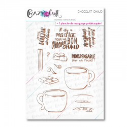 Chocolat chaud - Tampons transparents photopolymère pour scrapbooking - Crazy Little Craft
