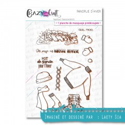 Panoplie d'hiver - Tampons transparents photopolymère pour scrapbooking - Crazy Little Craft