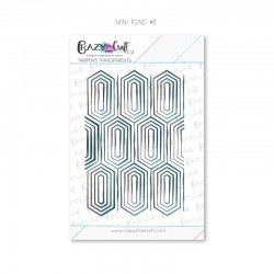Mini fond 8 - Tampons transparents photopolymère pour scrapbooking - Crazy Little Craft