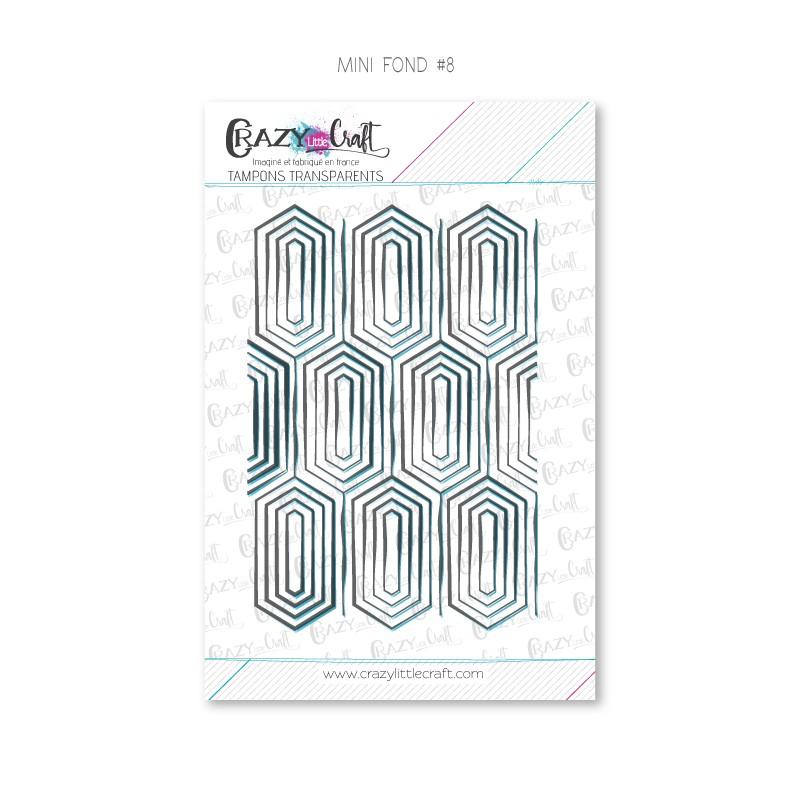 Mini fond 8 - Tampons transparents photopolymère pour scrapbooking - Crazy Little Craft