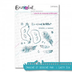 Carnaval - Tampons transparents photopolymère pour scrapbooking - Crazy Little Craft