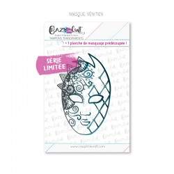 Masque Vénitien - Tampons transparents photopolymère pour scrapbooking - Crazy Little Craft