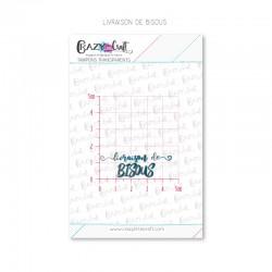 Livraison de bisous - Tampons transparents photopolymère pour scrapbooking - Crazy Little Craft