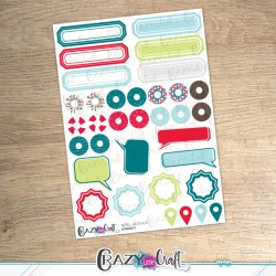 Noël acidulé - Planche de stickers en papier - Crazy Little Craft