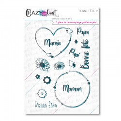 Bonne fête 2 - Tampons transparents photopolymère pour scrapbooking - Crazy Little Craft