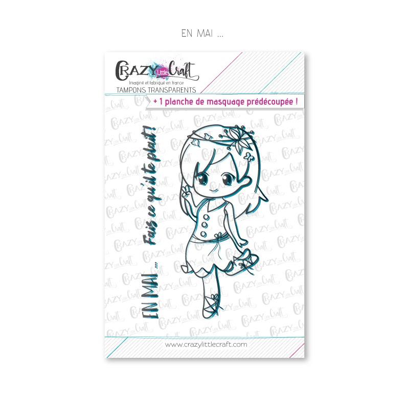 En mai ... - Tampons transparents photopolymère pour scrapbooking - Crazy Little Craft